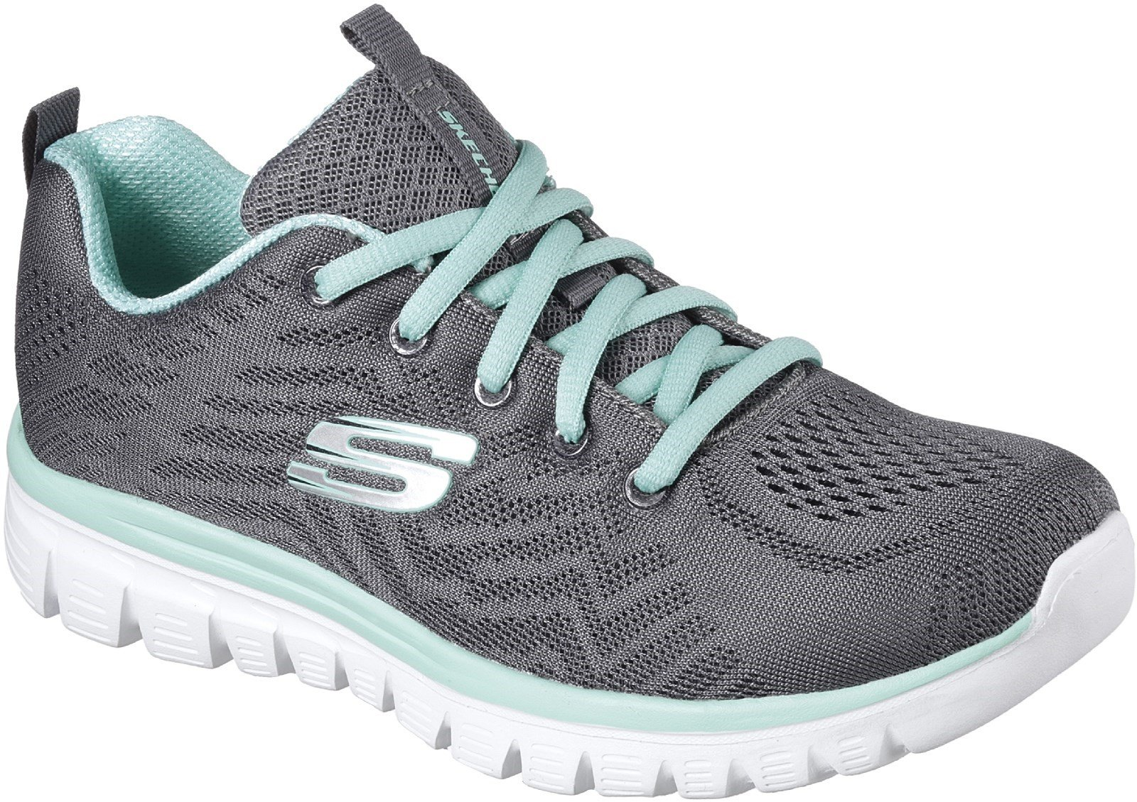 Skechers Women's Graceful Get Connected Sports Shoe Charcoal 30706 - Charcoal 3