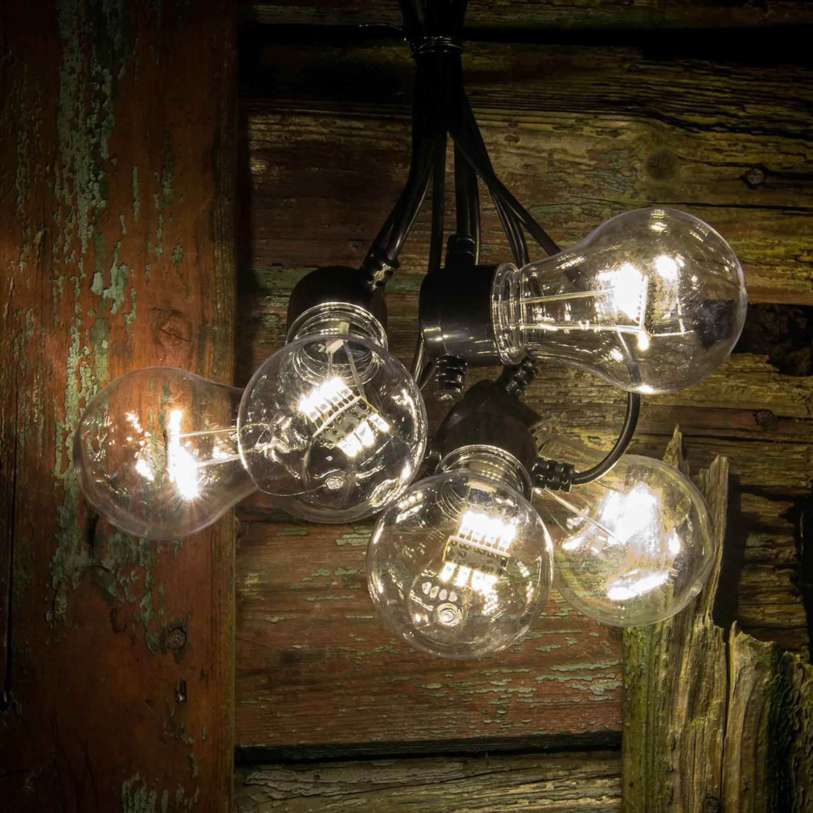LED-valoketju hehkuoptiikka lämmin valk. 5-lampp.