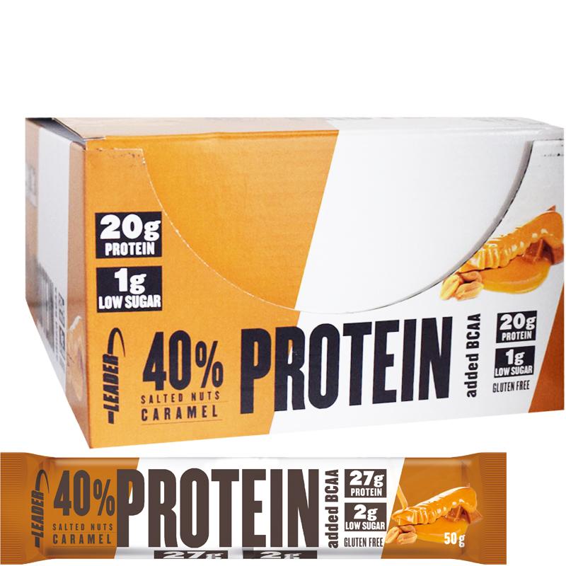 "Hel Låda Proteinbars ""Salted Nuts Caramel"" 24 x 50g - 28% rabatt"