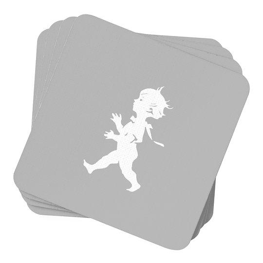 Solstickan - Glasunderlägg 10x10 cm 4-pack