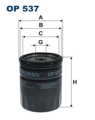 Öljynsuodatin FILTRON OP 537
