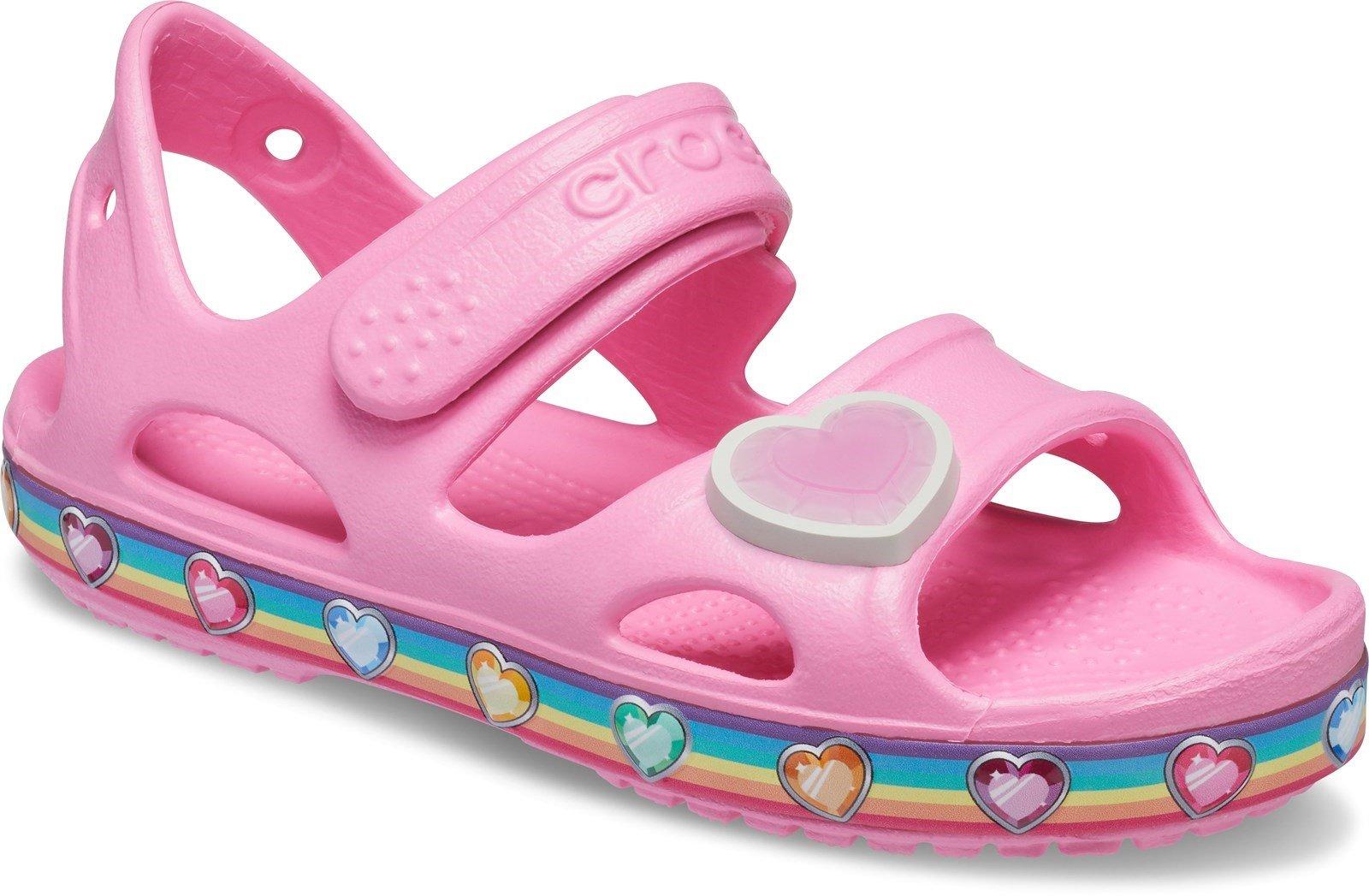 Crocs Kid's Fun Lab Rainbow Sandal Pink Lemonade 31881 - Pink Lemonade 4