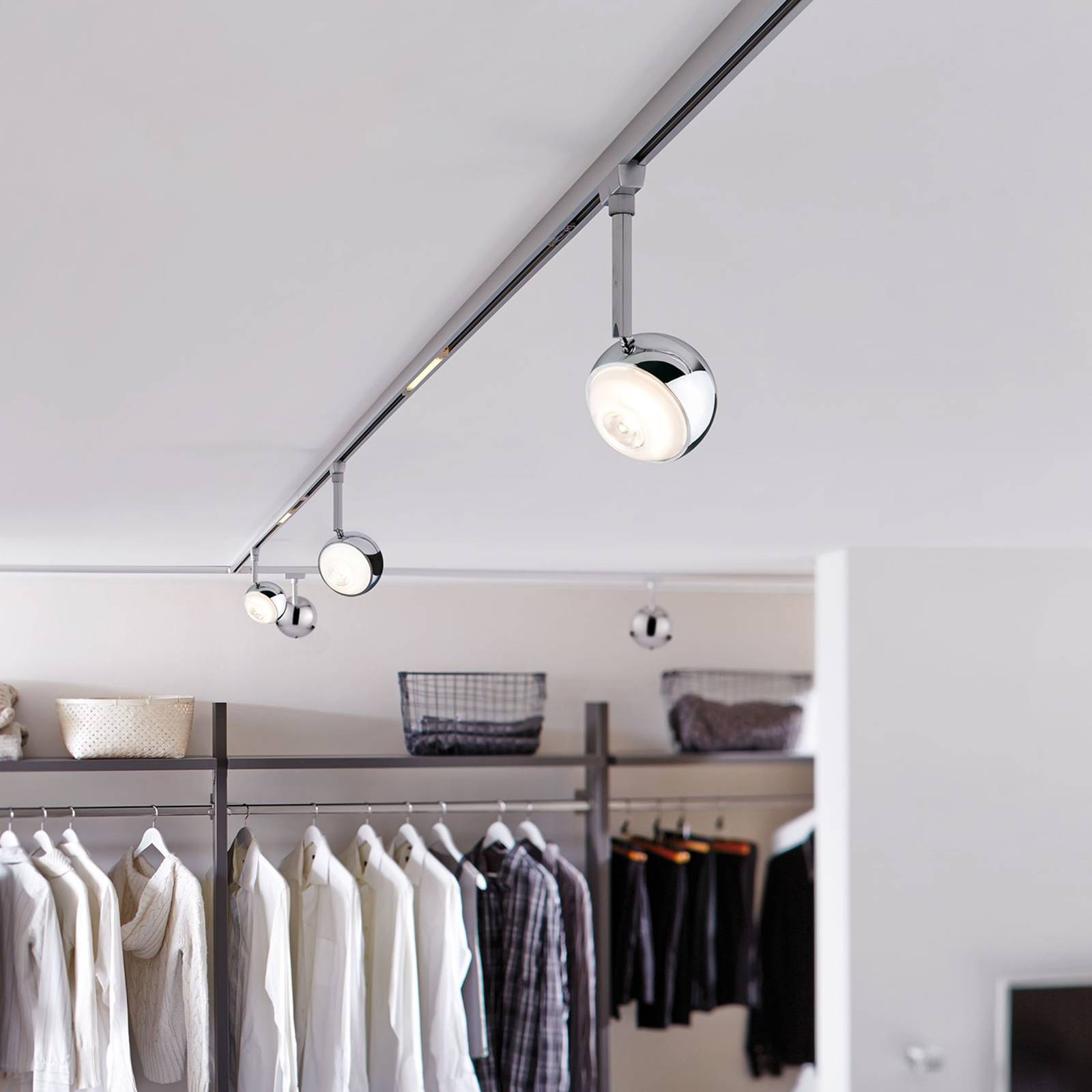 Paulmann URail Capsule II -LED-spotti, mattakromi