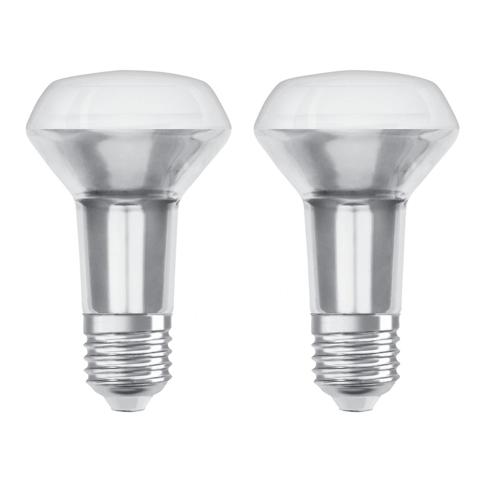 OSRAM-LED-heljastin E27 R63 4,3W 2 700 K 36° 2 kpl