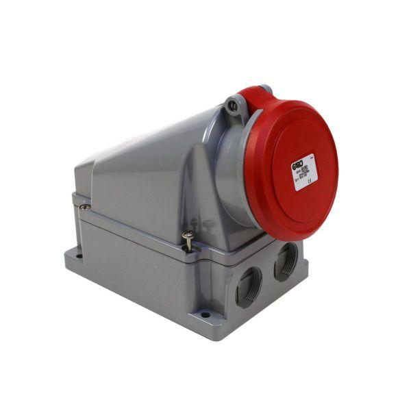 Garo UI 363-6 S + RU Vekkuttak IP44, 4-polet, 63 A Rød, 6 h