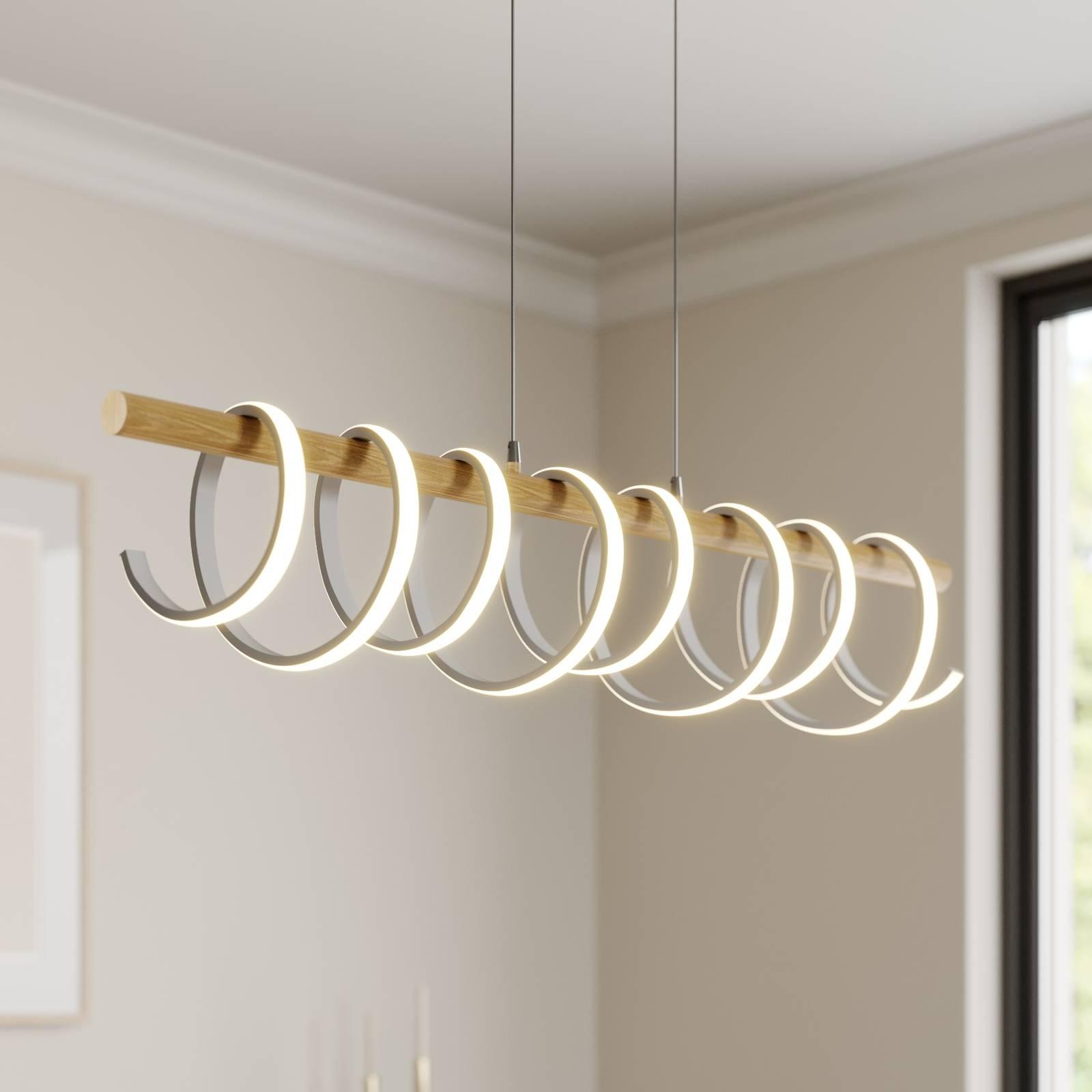 Lucande Milora -LED-riippuvalaisin, tammi