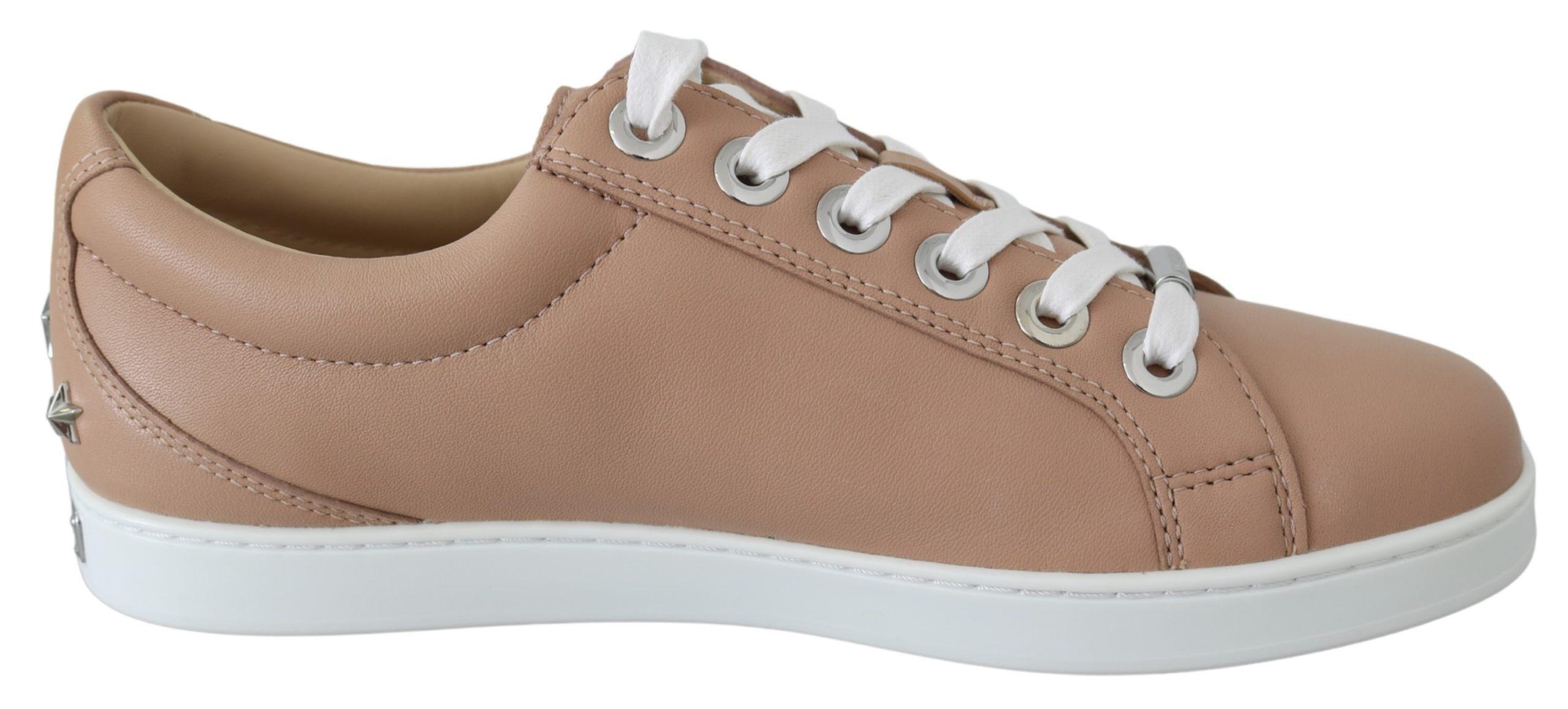 Jimmy Choos Womens's Cash Sneakers Powder Pink 194611096580 - EU37/US7