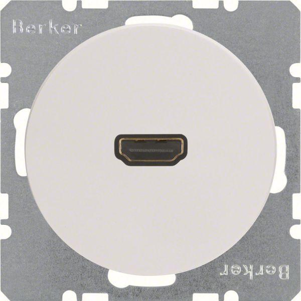 Hager 3315422089 HDMI-pistorasia R.1/R.3 Valkoinen