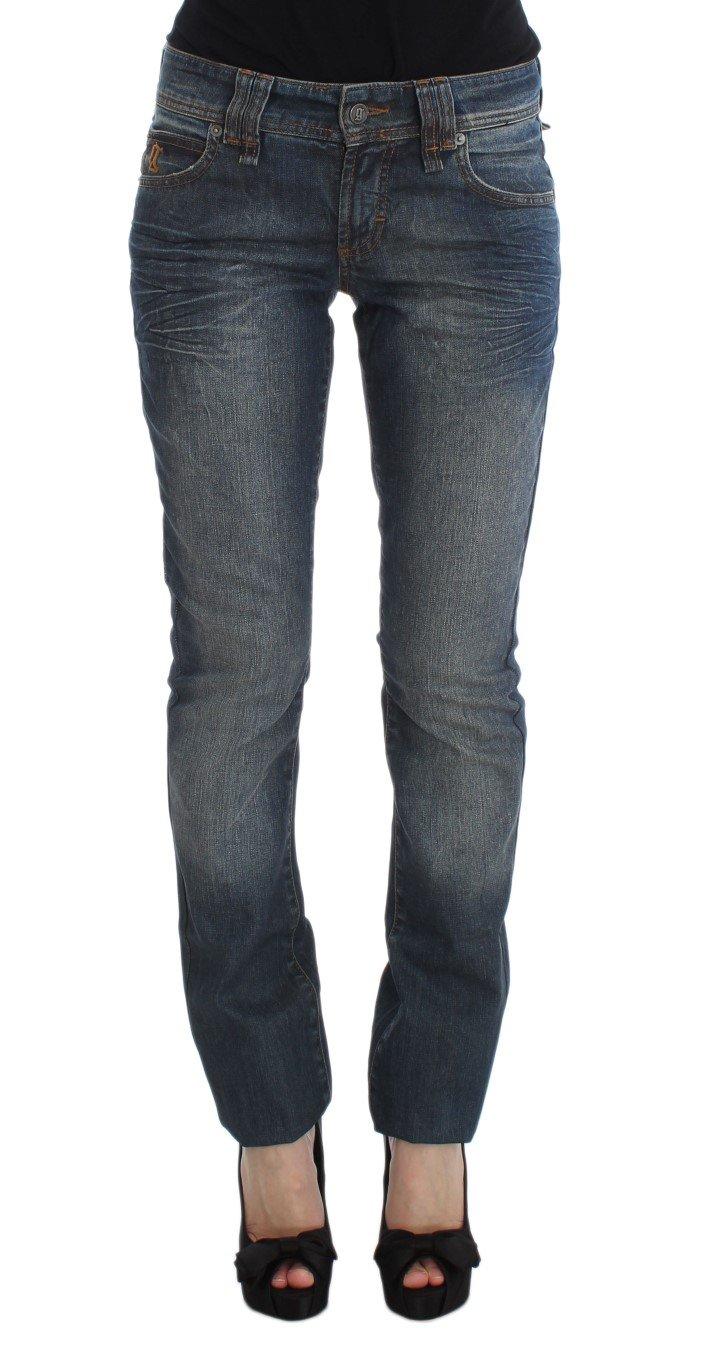 John Galliano Women's Cotton Blend Slim Fit Jeans Blue SIG30168 - W24