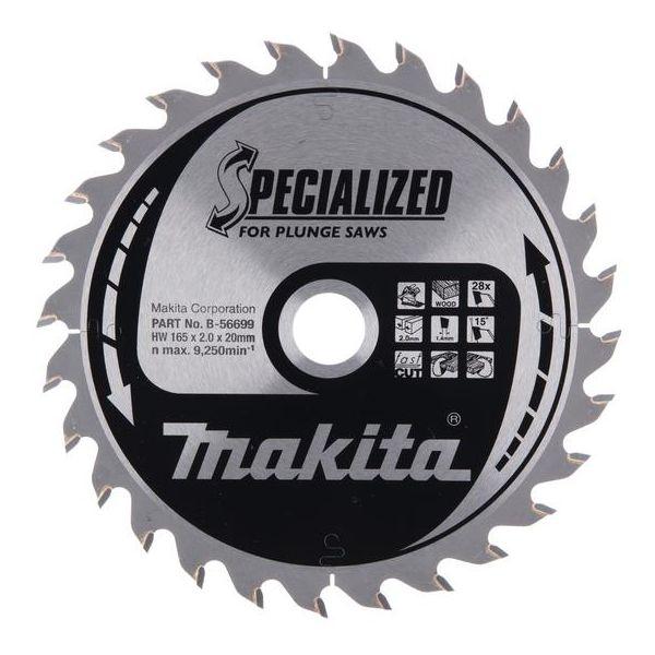 Makita B-56699 Sahanterä 165x20 mm, 28T