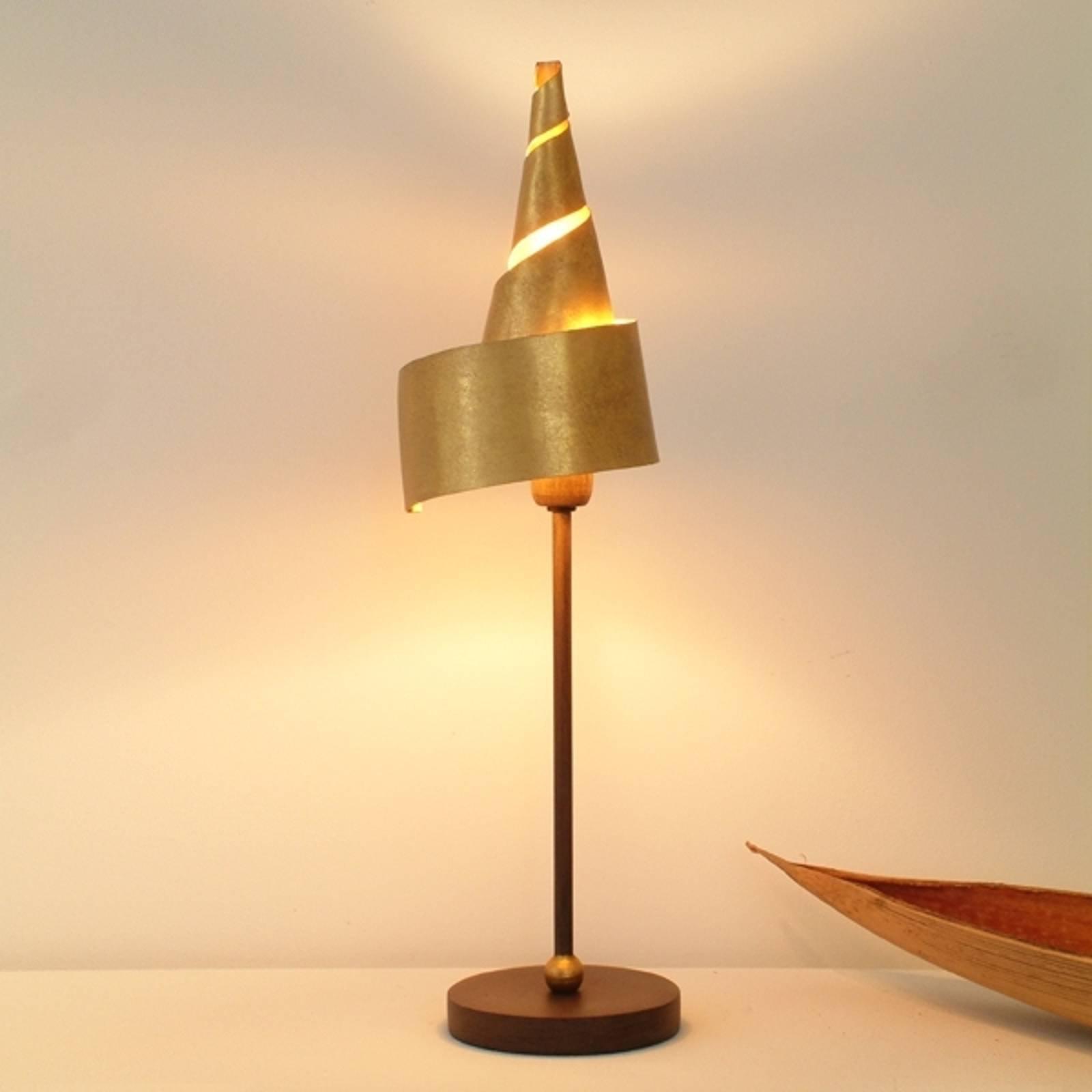 Gyllen ZAUBERHUT bordlampe med metallskjerm
