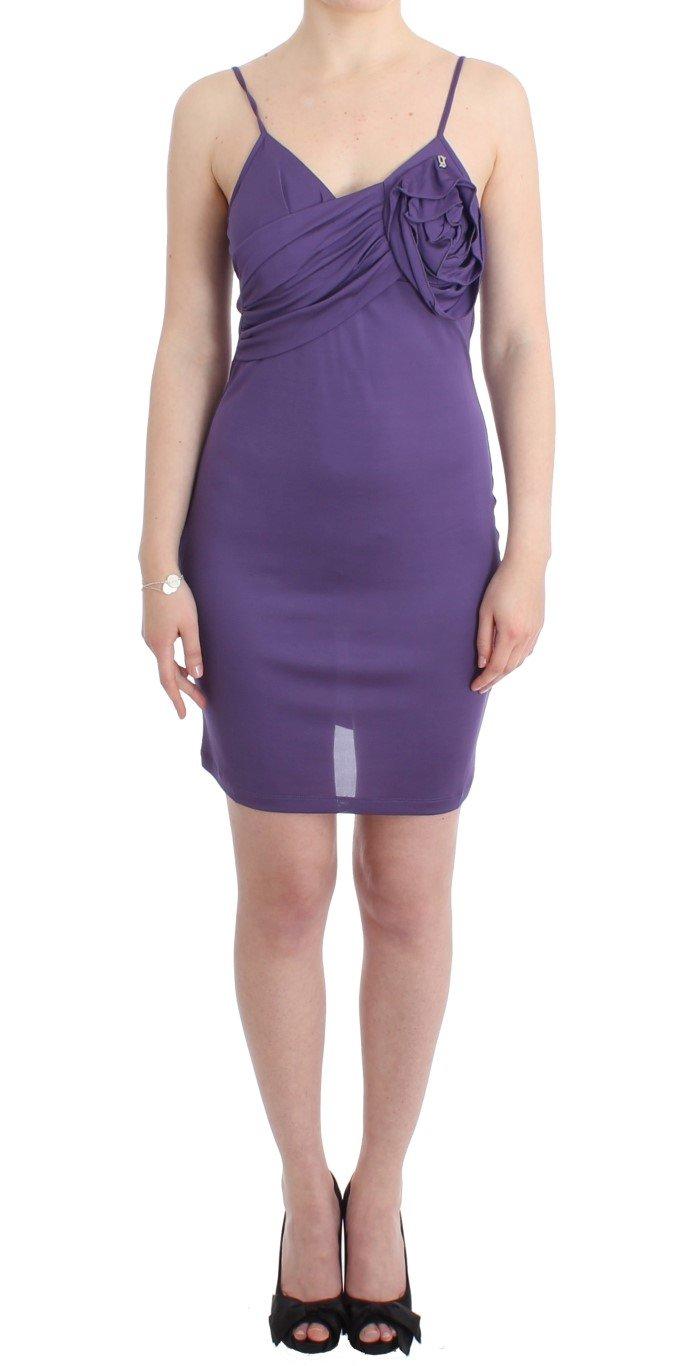 John Galliano Women's Jersey Dress Purple SIG11559 - IT44|L