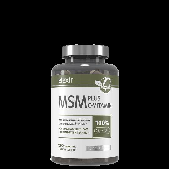 Elexir Pharma MSM + C Vitamin, 120 tabletter