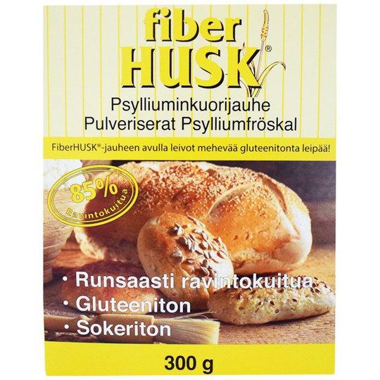 Fiber Husk Psylliumkuorijauhe 300g - 33% alennus