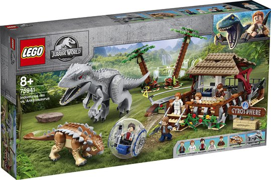 LEGO Jurassic World 75941 Gyrokule-eventyr: Indominus rex mot Ankylosaurus