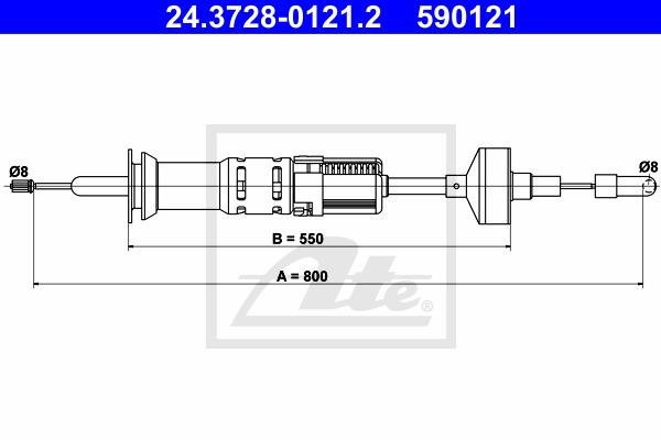 Kytkinvaijeri ATE 24.3728-0121.2