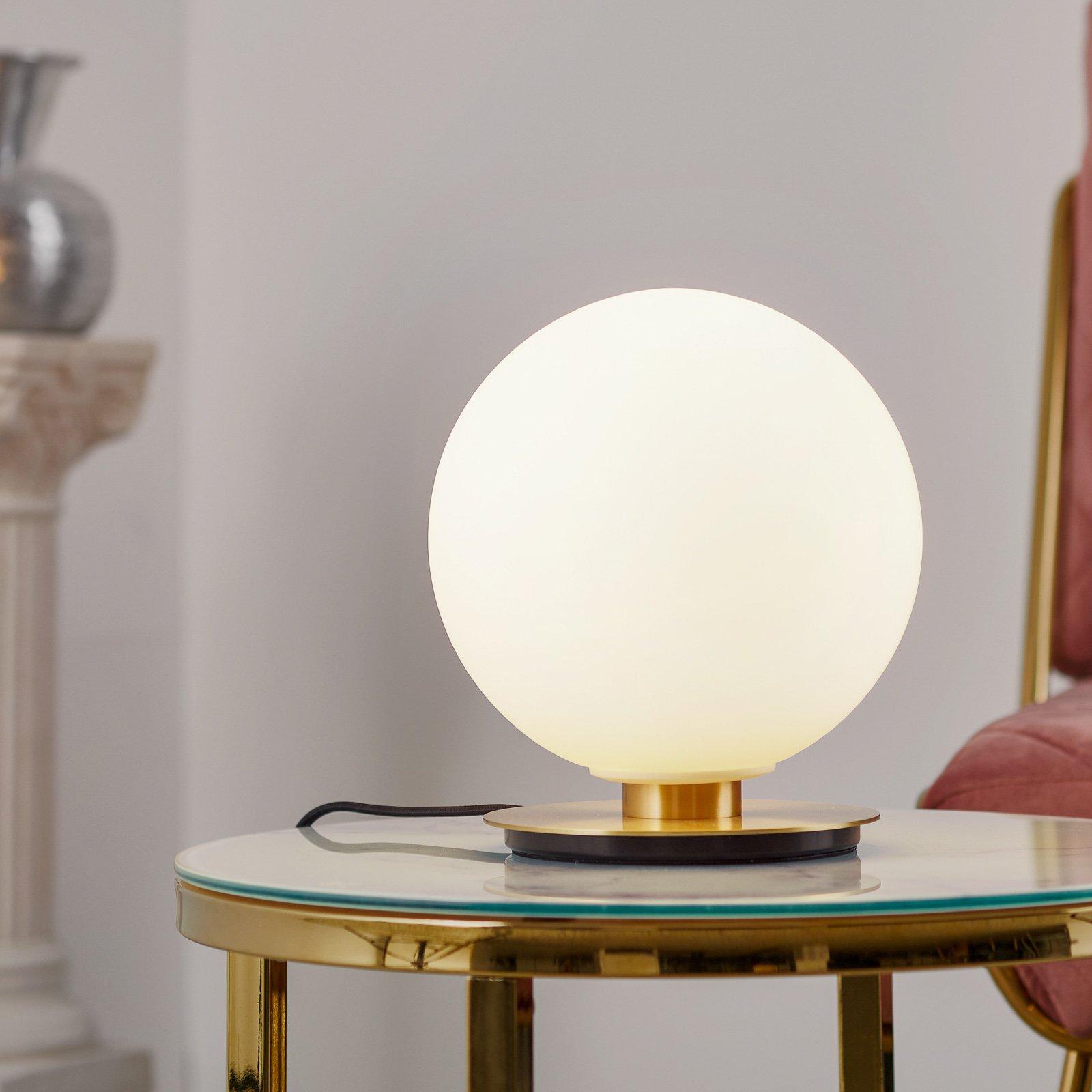 Menu TR Bulb bordlampe 22 cm messing/opal matt