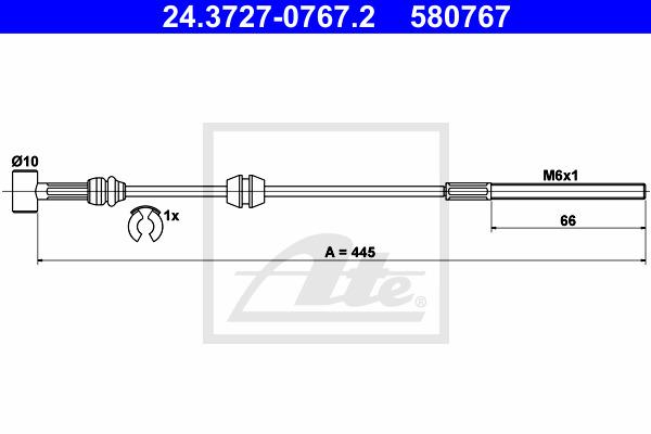 Käsijarruvaijeri ATE 24.3727-0767.2