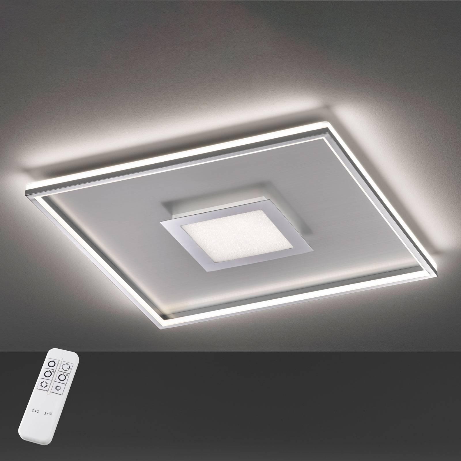 Bug-LED-kattovalo, neliönmuot., kromia, 40x40cm
