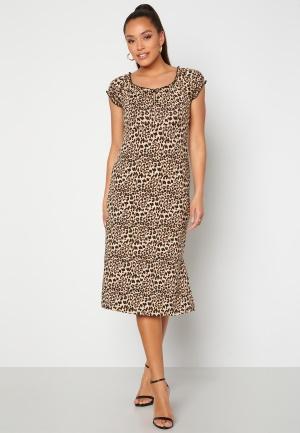Happy Holly Tessan midi dress Leopard 36/38