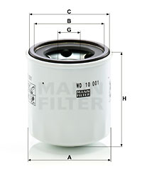 Öljynsuodatin MANN-FILTER WD 10 001 x