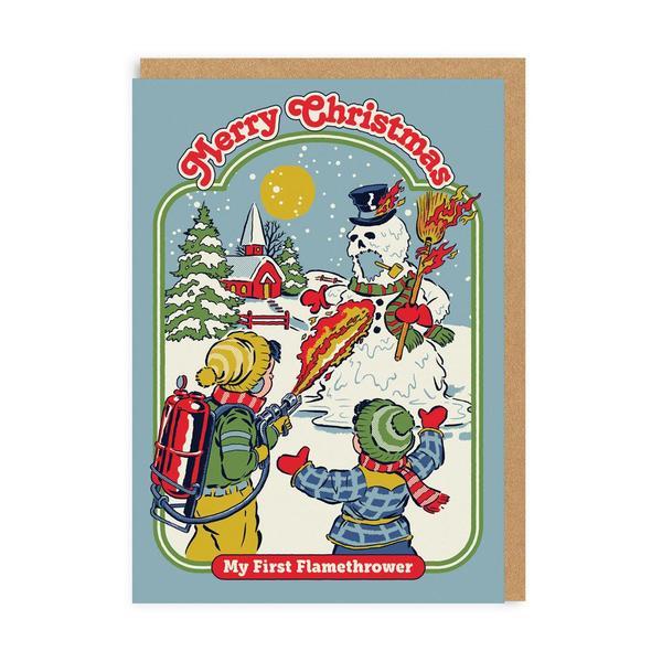 My First Flamethrower Christmas Card