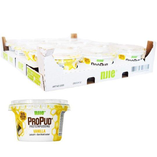 Hel Låda Proteinpudding Vanilj 12 x 200g - 28% rabatt