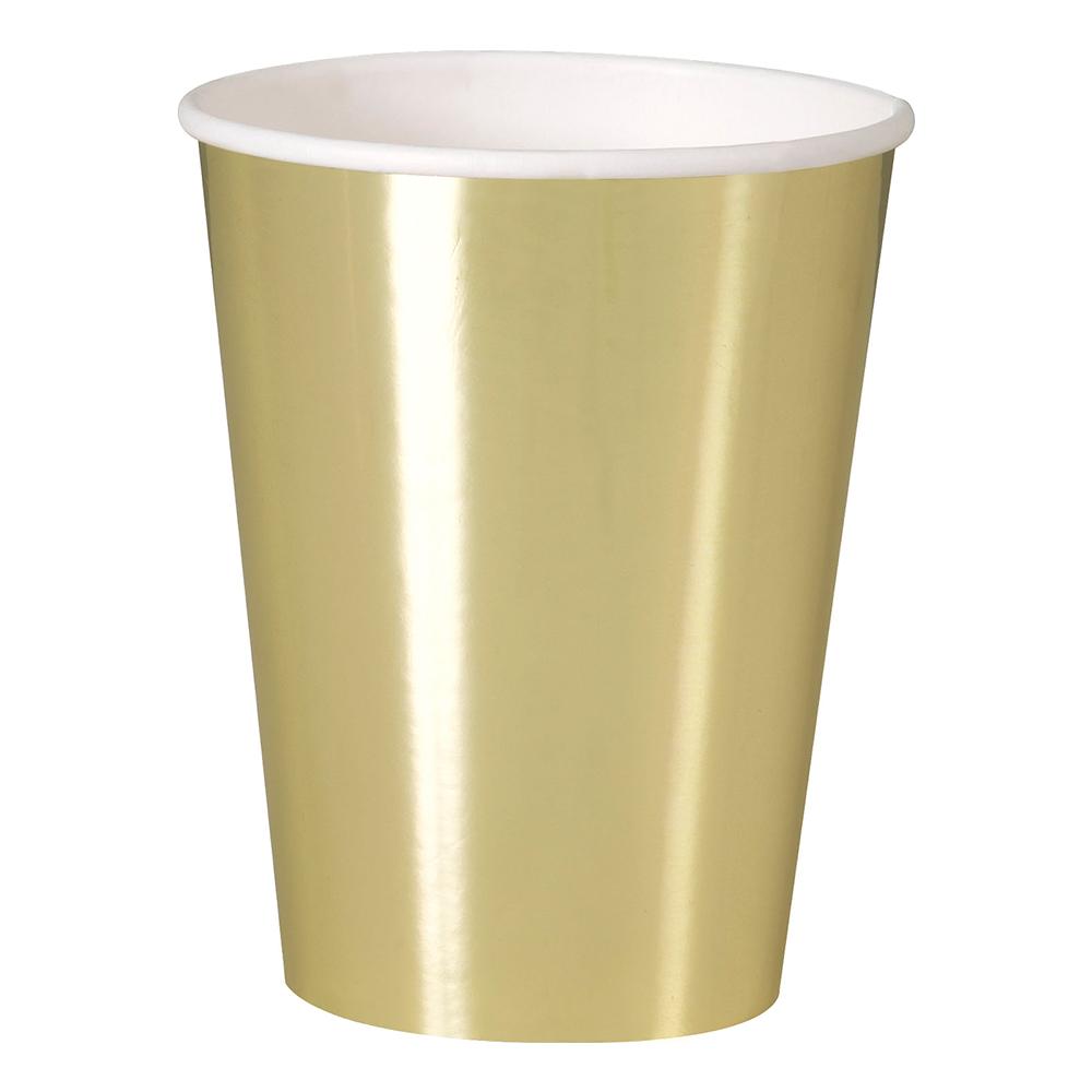 Pappersmuggar Guld Metallic - 8-pack