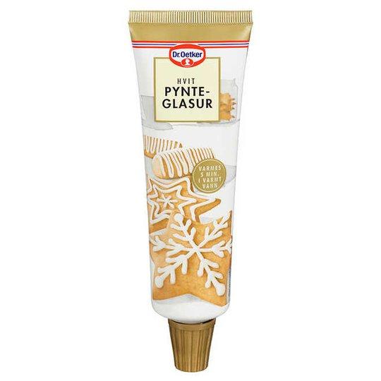 Pyntglasyr vit - 50% rabatt