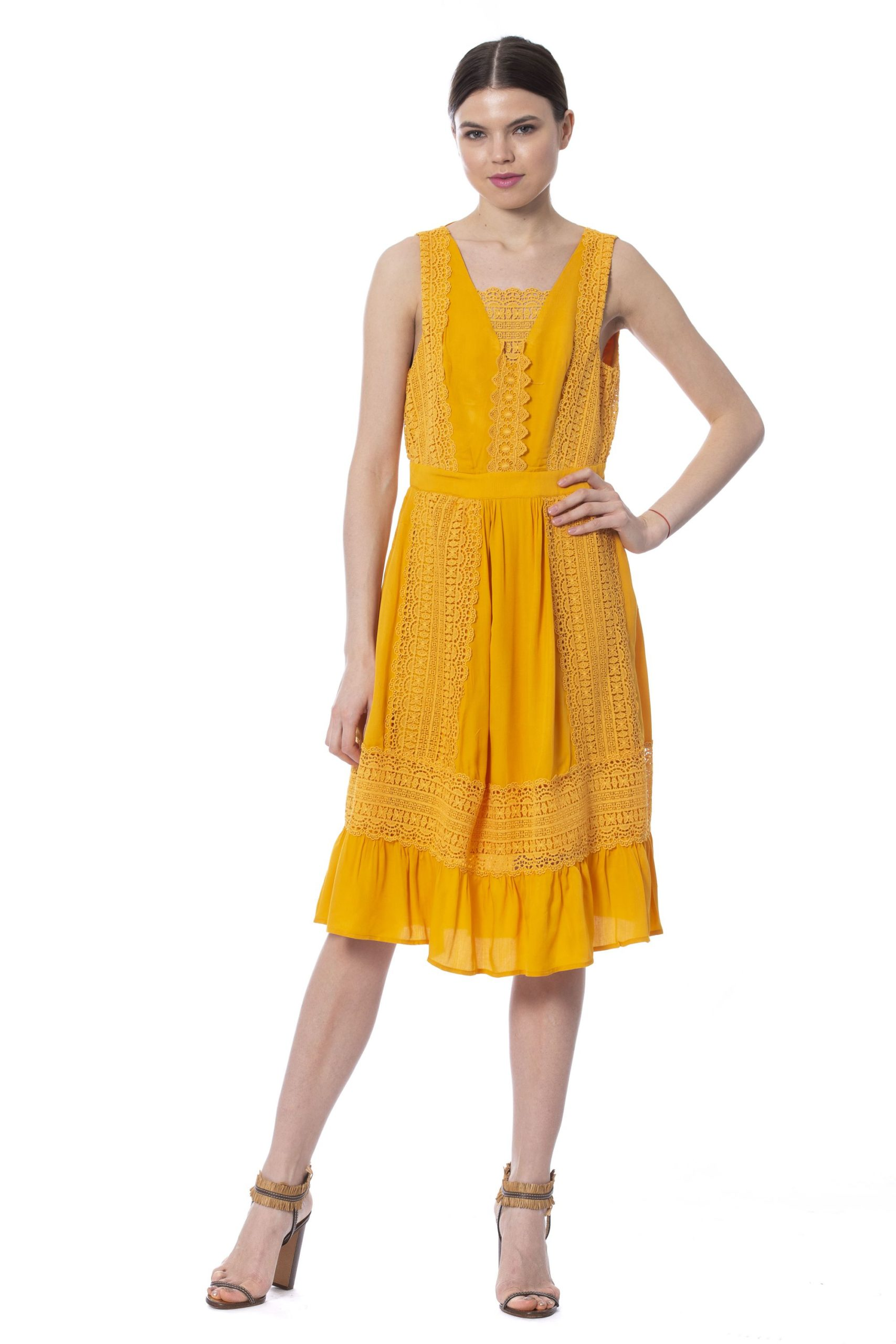 Silvian Heach Women's Dress Yellow SI992434 - S