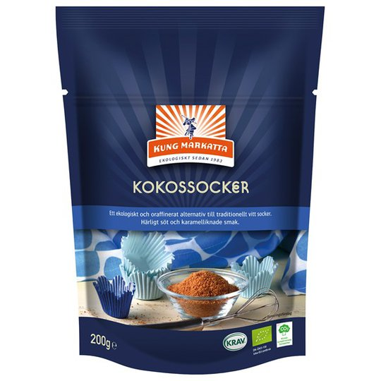 Kung Markatta Kokossocker, 200 g