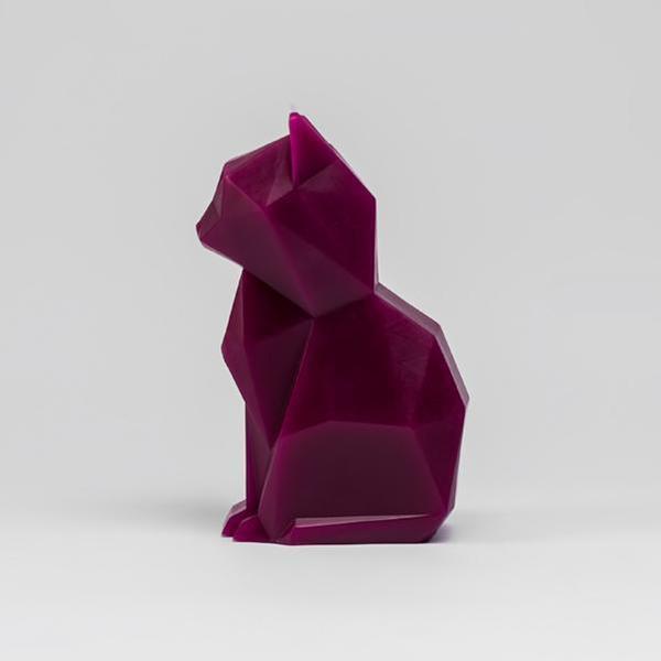 Pyropet Kisa Burgundy Cat Candle