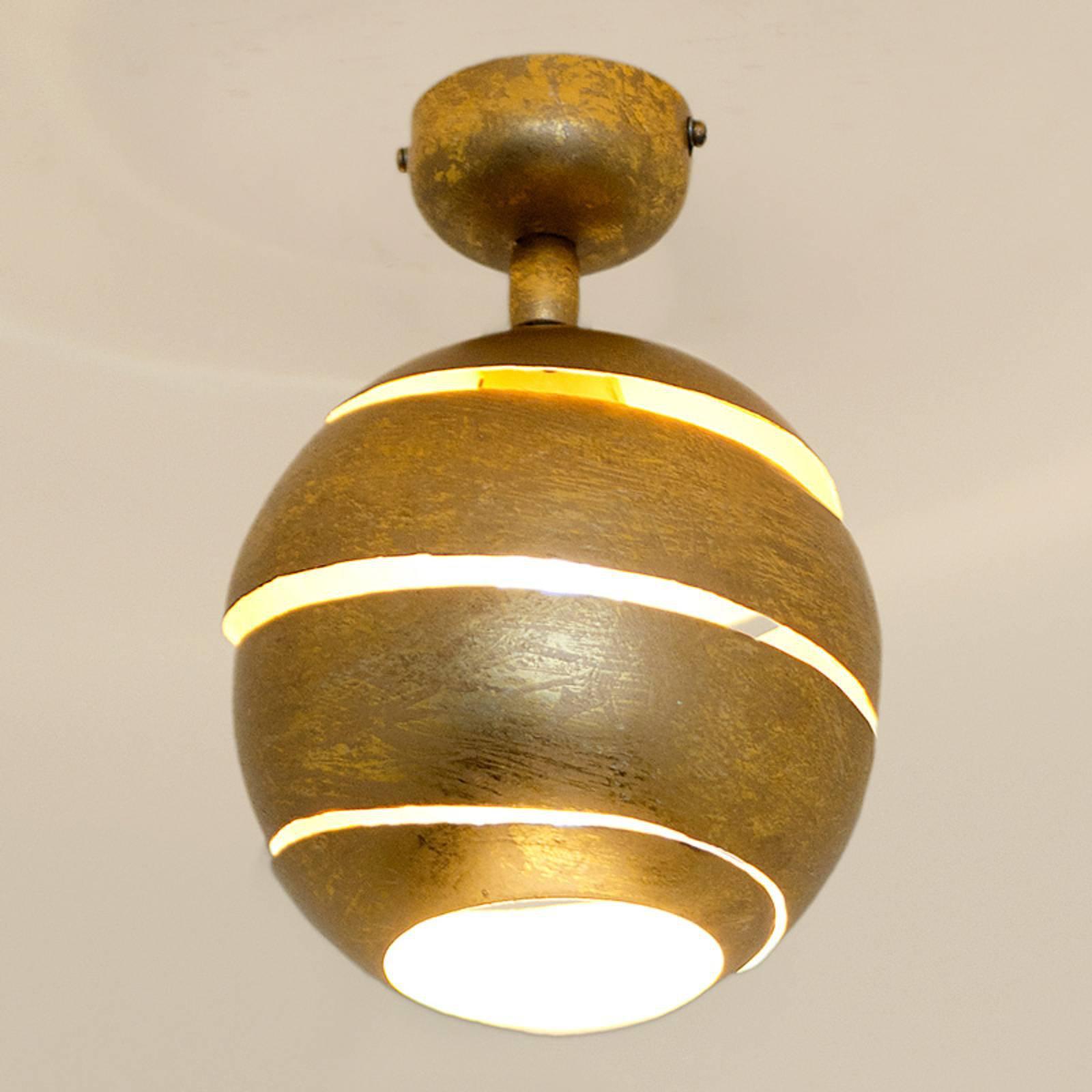 Svingbar taklampe Suopare i gull