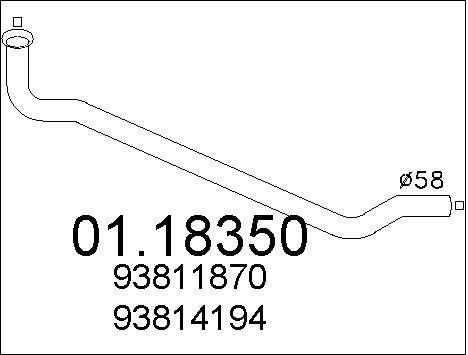 Pakoputki MTS 01.18350