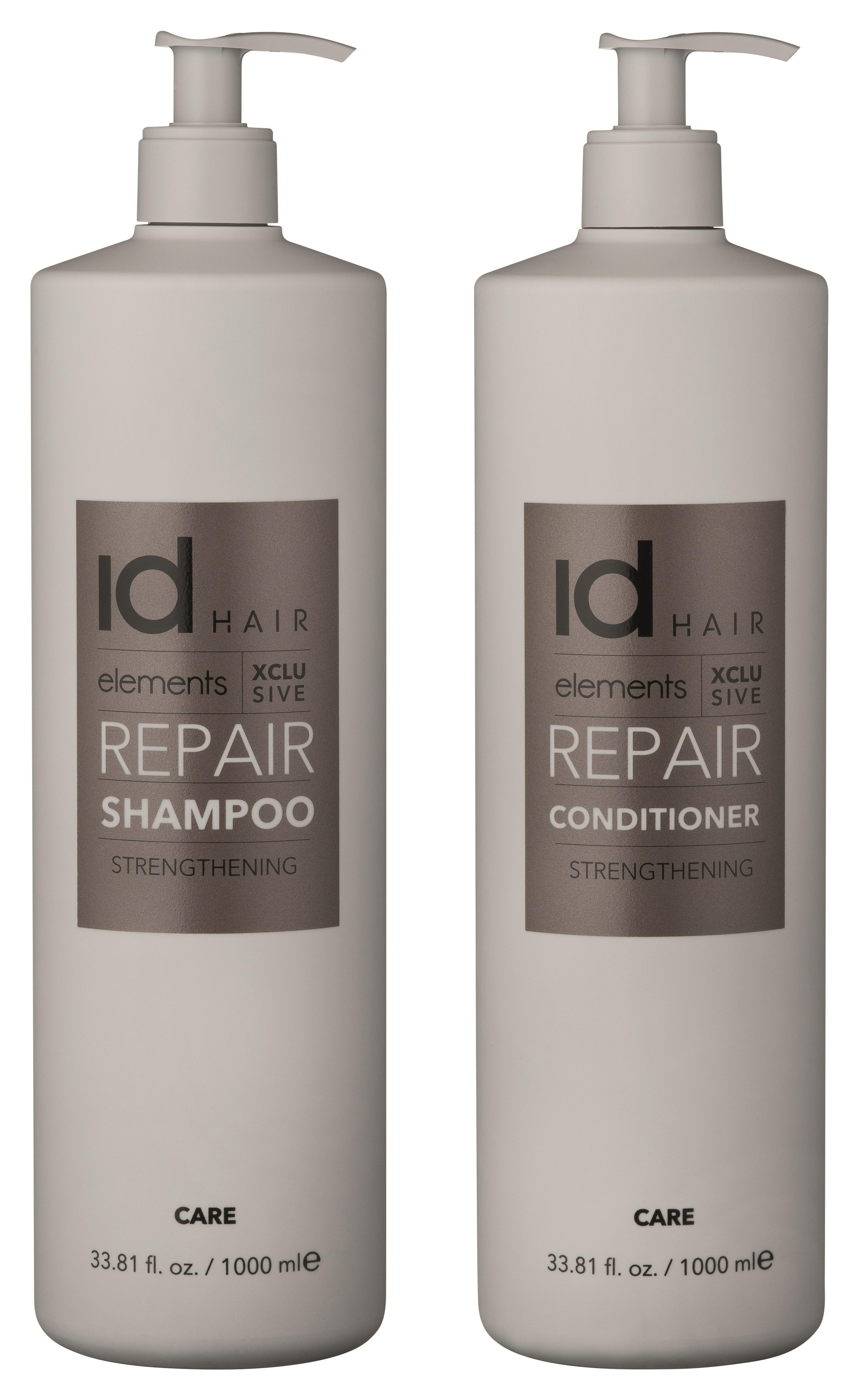 IdHAIR - Elements Xclusive Repair Shampoo 1000 ml + Conditioner 1000 ml
