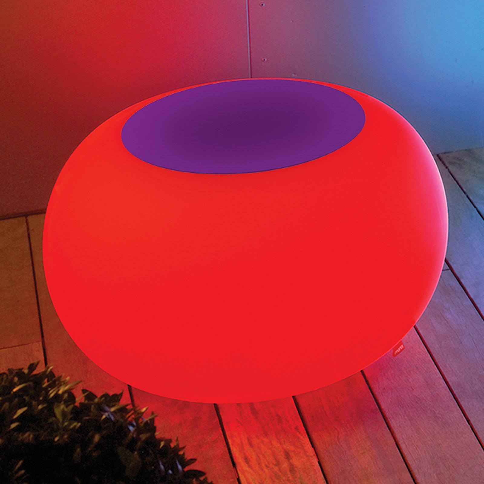Pöytä Bubble, valo LED RGB + huopa violetti