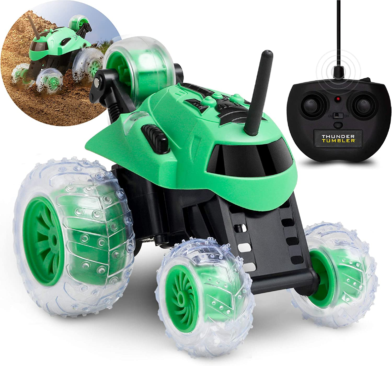 Sharper Image - RC Mini Monster Spinning Car - Green (50-00112)