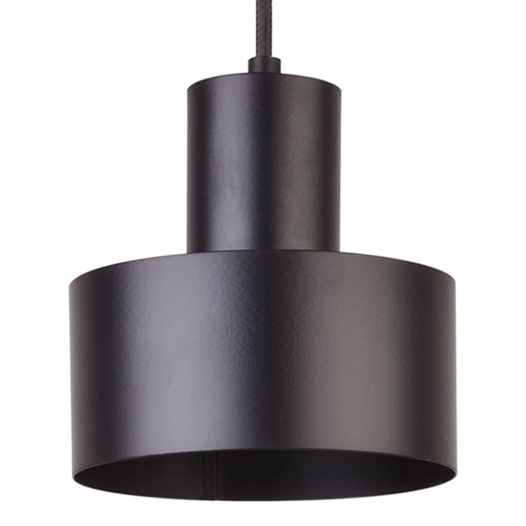 Riippuvalaisin Rif metallista, musta, Ø 15cm