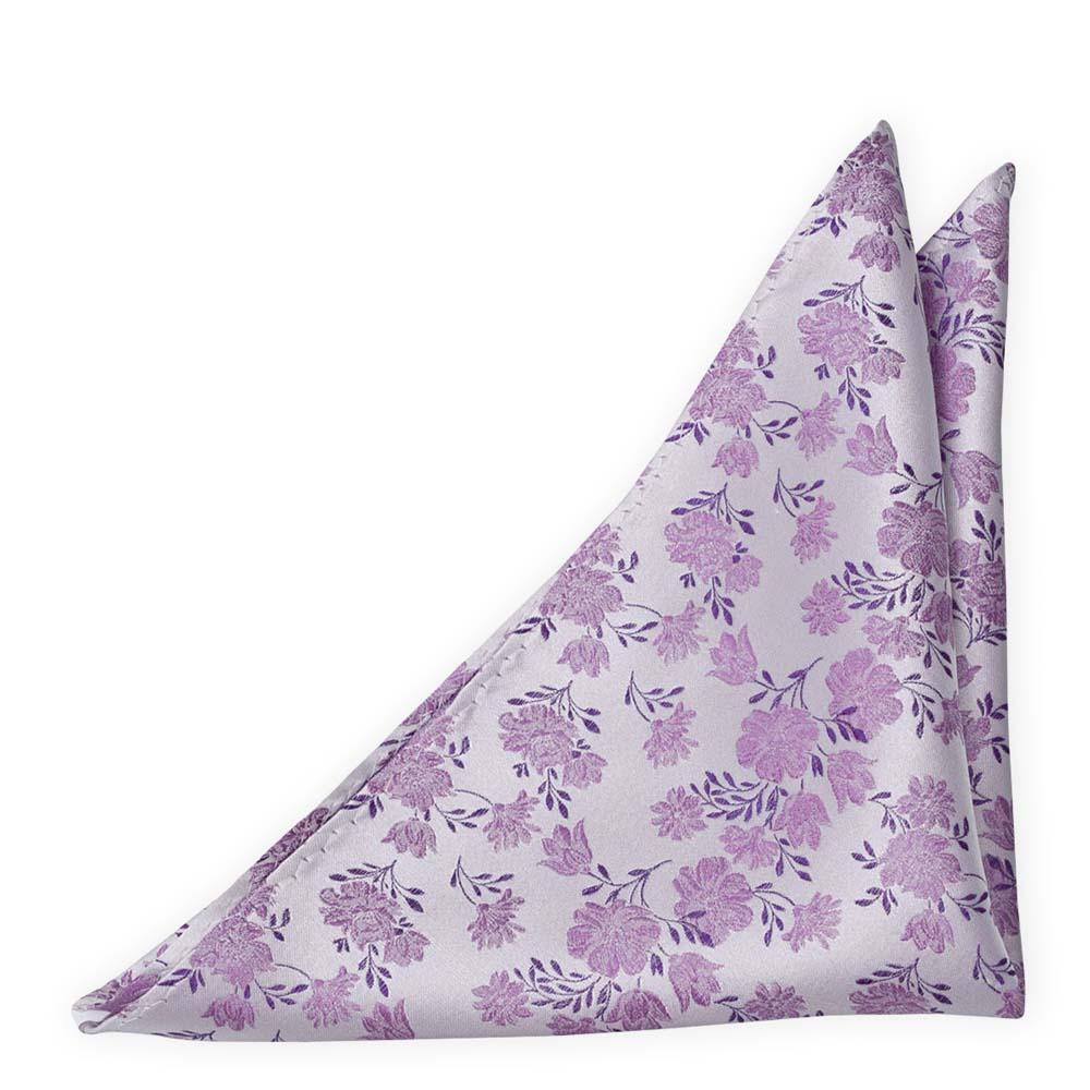 Silke Lommetørkler, Lilla blomster på en sølvaktig base, Lilla, Blomstermotiv