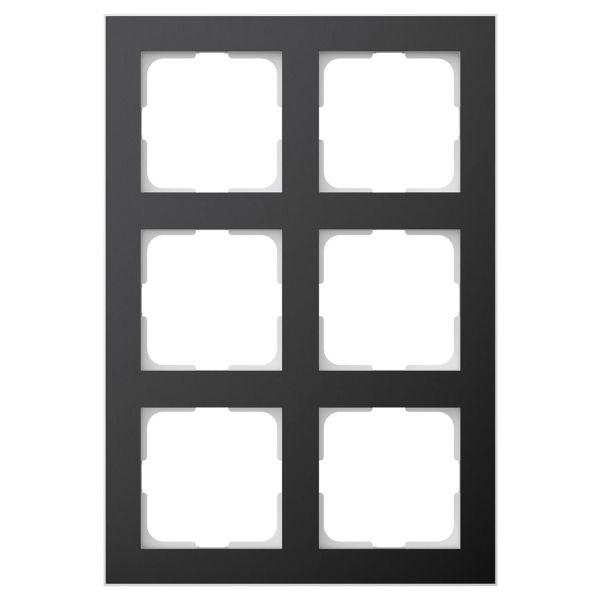 Elko EKO06372 Yhdistelmäkehys musta/alumiini 2 x 3 lokeroa