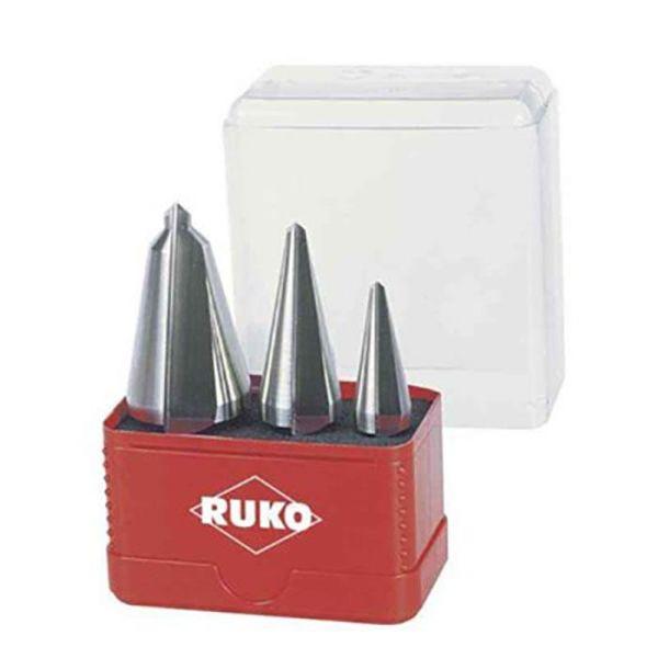 Ruko A101033 Metallborsett konisk, 3 deler, i plastkassett