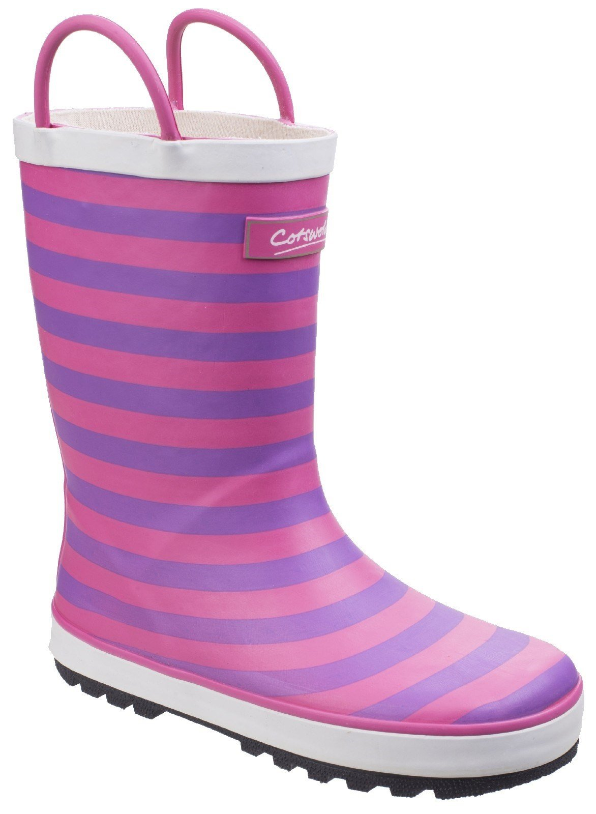 Cotswold Kids Captain Stripy Wellies Boot Blue 25545 - Pink 4.5