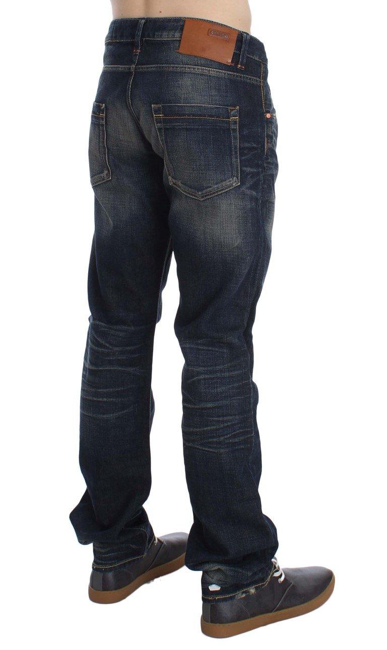 ACHT Men's Straight Fit Low Waist Jeans Blue SIG30532 - W34