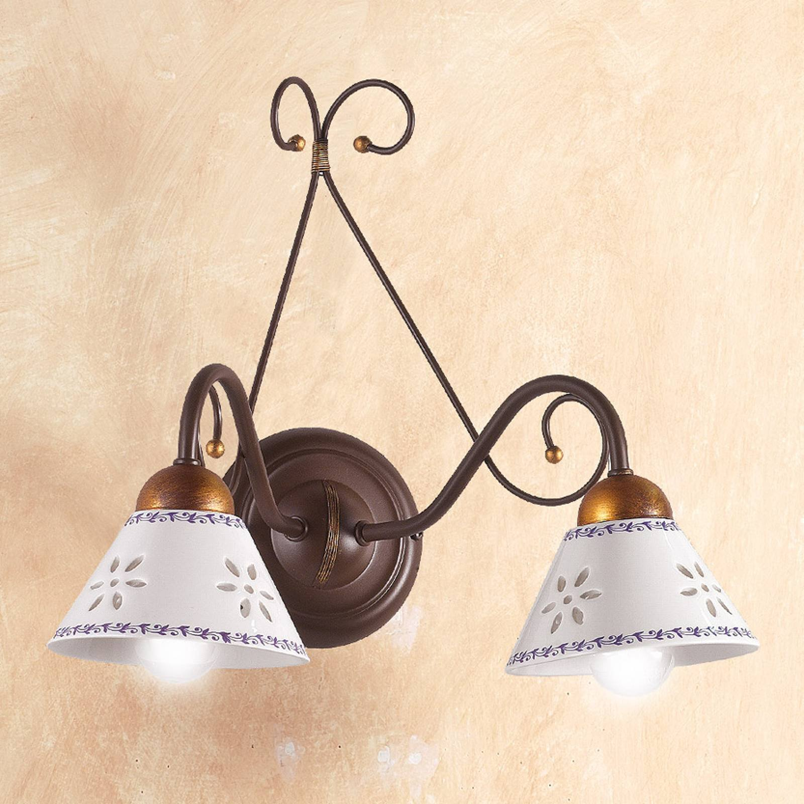 LIBERTY vegglampe med to lys