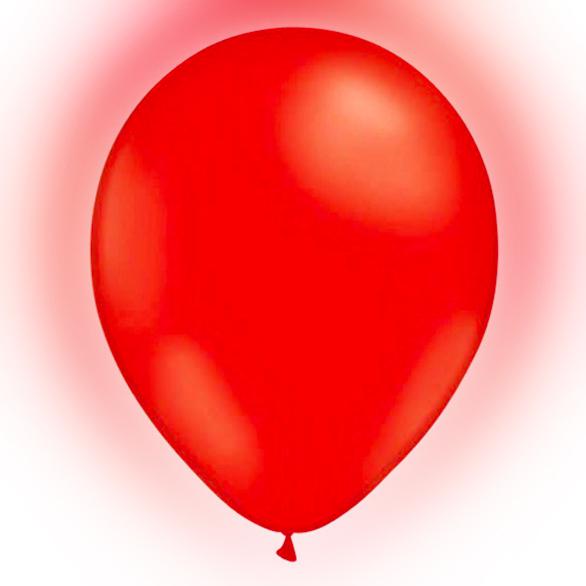LED-Ballonger Röda - 5-pack