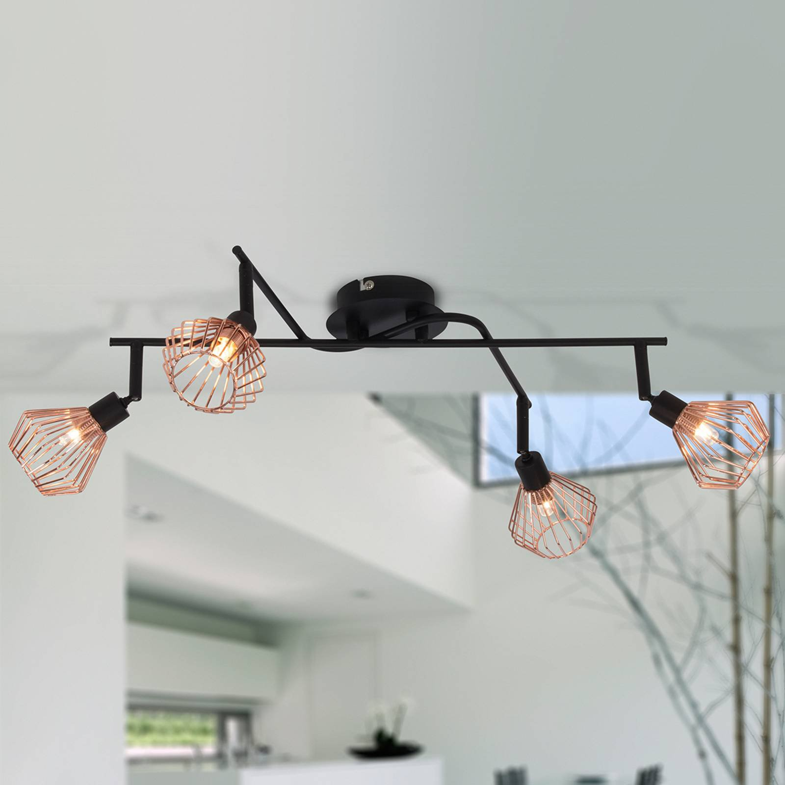 Taklampe med 4 lyskilder Dalma