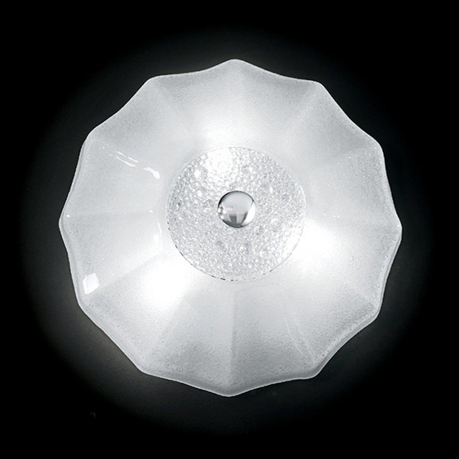 Hvit taklampe Augustine, 50 cm