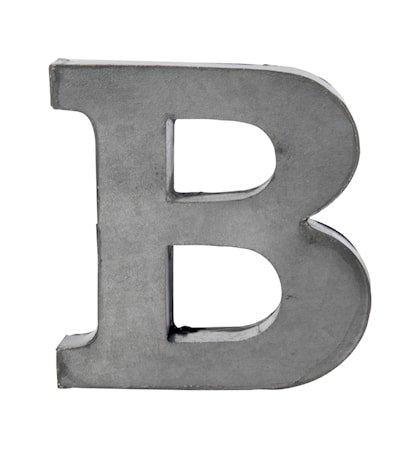 Bokstav B 5,5 cm - Zinc