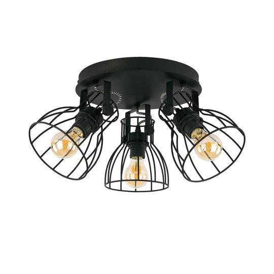 Taklampe Alano, svart, 3 lyskilder