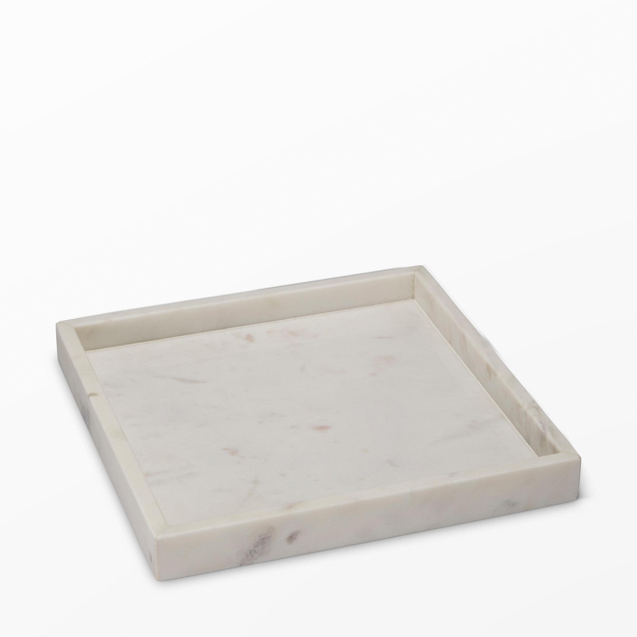 Marmorbricka, 25x25x3 cm